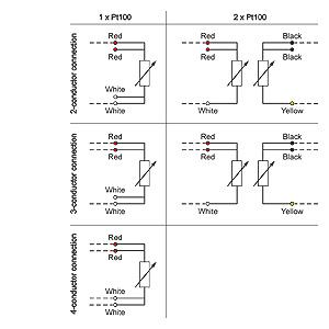 sitrans ts temperature sensors Инженерное Бюро Авиган circuit diagram 1xpt100 2w 2xpt100 4w